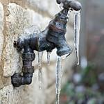 frozen outdoor hose bib
